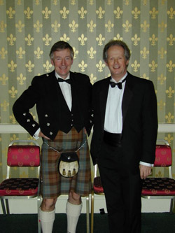 Is this a dress suit? Professor Iain MacLeod, University of Strathclyde and Professor Clive Melbourne, University of Salford at the Annual Dinner in November